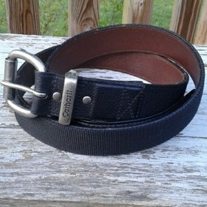 Carhartt A159 Leather and Web Belt Size 46